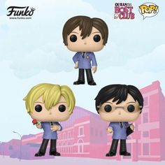 The incredibly popular anime Ouran High School Host Club is coming to Pop! Pre-order ships later this year Set includes: Kyoya, Haruhi and Tamaki 3 tall Vinyl Released in 2018 Pop Figures, Anime Figures, Vinyl Figures, Funko Pop Dolls, Funko Toys, Ouran Host Club, Ouran Highschool, Natsume Yuujinchou, High School Host Club