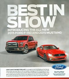 Best in Show - 2015 Ford Mustang 2015 Ford F-150
