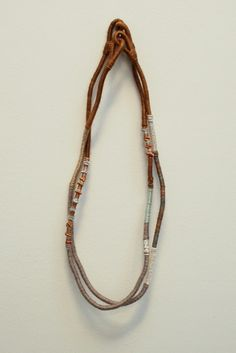 textile long necklace