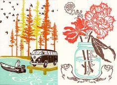 Old School Stationers- calendar designs from a letterpress studio in Portland, Oregon