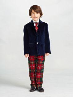 Oscar de la Renta - Holiday Plaid Classic Wool Pant