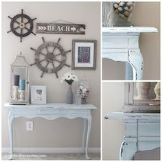 Beach Inspired Console Table - Upcycled Treasures