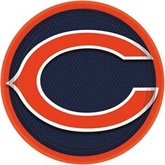 DesignWare Chicago Bears NFL Round Plates 9 ** See this great product.