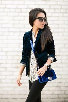 Velvet Love :: Lush blazer ----velvet back in style? .......well, better than corduroy anyways..... :)