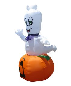 Take a look at this Ghost on Pumpkin Inflatable Yard Decoration by Spooktacular Home: Decorations on #zulily today!