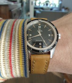 Vintage Omega Seamaster 300 Diver With Omega's Trademark Broadarrow Hands Circa Early 1960s