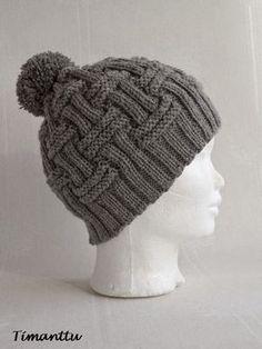 ILOA ITSE TEHDEN: Miehen pipo Baby Knitting Patterns, Crochet Beanie Pattern, Mittens Pattern, Knit Crochet, Crochet Patterns, Crochet Hats, Easy Crochet, Diy Hair Accessories, Crochet Slippers
