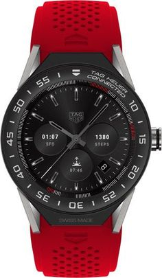 @tagheuer Watch Connected Modular 45 Smartwatch #bezel-fixed #bracelet-strap-rubber #brand-tag-heuer #case-depth-13-75mm #case-material-titanium #case-width-45mm #delivery-timescale-call-us #description-done #dial-colour-lcd #gender-mens #luxury #movement