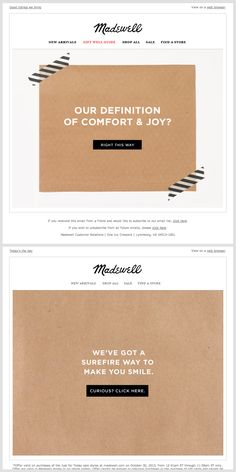 Madewell email series