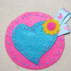 """This brooch is called """"Mommy's heart"""" and it was made according to my son's instructions."""
