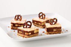 Chocolate, Peanut Butter & Pretzel Bars via kraftrecipes.com
