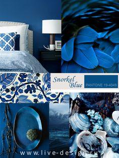 Второй оттенок синего в коллекции модных цветов Весна-Лето 2016 Института Цвета Pantone – это насыщенный и глубокий оттенок Snorkel Blue (Pantone 19-4049)....