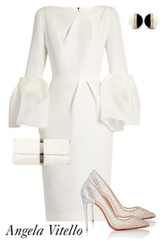 Untitled #884 by angela-vitello on Polyvore featuring polyvore, fashion, style, Roksanda, Christian Louboutin, Chanel and clothing