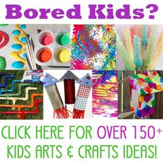 Boredom busters for kids - 150+ crafts and activities perfect for summer, vacation, holidays and anytime! TONS of fun stuff here!