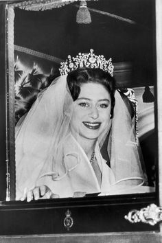 The Bride: Princess Margaret, younger sister of Queen Elizabeth II. The Groom: Antony Armstrong-Jones, a photographer. However, Princess Margaret's first love Royal Brides, Royal Weddings, Elizabeth Ii, Princess Margaret Wedding, Princess Margaret Young, Princess Diana, Poltimore Tiara, Royal Films, Royals