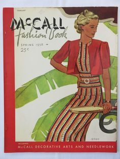 McCall Fashion Book, Spring 1938 featuring McCall 9590
