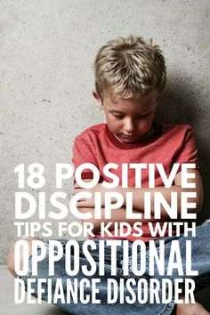 Discipline tips for kids with oppositional defiance disorder Dealing with oppositional defiant disorder at home or in the classroom? We've got 18 ODD discipline tips to help with problem behaviors in a positive way! Classroom Behavior Management, Behaviour Management, Kids Behavior, Behavior Charts, Management Tips, Child Behaviour, Behavior Plans, Chore Charts, Odd Disorder