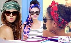 Los pañuelos están muy de moda en esta temporada como accesorio para tu outfit  #in #moda #pañuelo #cabello