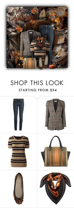 """Beautiful Autumn"" by jgee67 ❤ liked on Polyvore featuring Yves Saint Laurent, Lands' End, John Lewis, MCM and patternmixing"