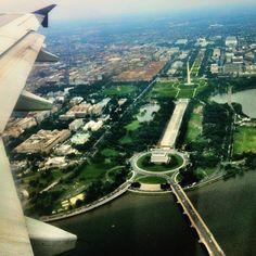Washington Mall from 10000 ft.