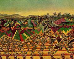 "artist-miro: ""Mont-roig Vineyards and Olive Tree, 1919, Joan Miro """