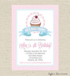 Baking Party Invitation