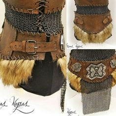 Description: Nordic female belt made of steel and hand-dyed leather with polished steel chainmaille. Available soon in my Etsy shop : http://ift.tt/21pnL4g #armor #cosplay #costume #warrior #skyrim #cosplayer #fantasy #crafting #metal #leather...