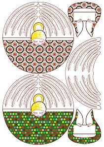 Christmas Printables, Christmas Crafts, Christmas Ornaments, Christmas Ideas, Xmas, Kirigami, Diy Paper, Paper Crafts, Paper Angel