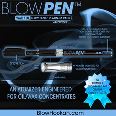 THE BLOW PEN with the BLOW Tank Platinum (with a funneled copper shell and ceramic core it's a tank that is engineered for concentrates) is the perfect set for your concentrates. Some concentrates require more heat and power than others so don't get stuck at one power level. Now you can achieve your own desired burn rate!