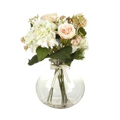 Discover the Paper Whites Roses, Hydrangea