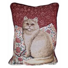 @Overstock - Soft fabric kitty tapestry pillows are an ideal complement to your home decor Set of 2 pillows feature a printed front and a solid burgundy back Pretty kitty throw pillows are the ideal accent to any cat lover's living roomhttp://www.overstock.com/Home-Garden/Fabric-Kitty-Tapestry-Pillows-Set-of-2/3156366/product.html?CID=214117 $18.49