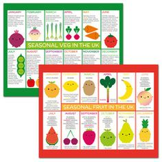 UK seasonal fruit & veg fridge magnets are back in stock!