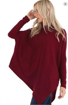 The Poncho Top - Burgundy