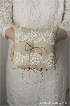 Ring pillow wedding ring pillow bridal ring by HannahAspensbridal