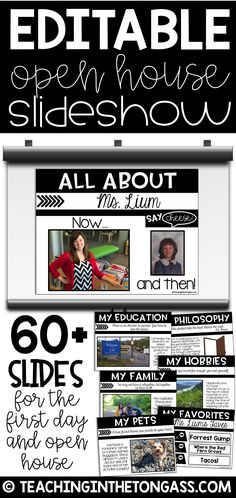 This Meet the Teacher Powerpoint and Open House Slideshow is perfect for the modern teacher! The design work is already done for you, just add your own photos and details about yourself, what supplies students will be using, any homework and all of those burning questions your students want to know about!