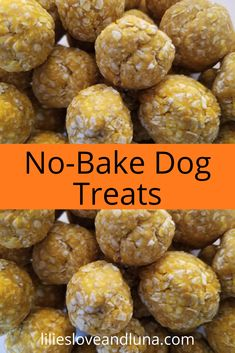 Easy 3 ingredient treats for your dog. No Bake Dog Treats, Frozen Dog Treats, Peanut Butter Dog Treats, Pet Treats, Healthy Dog Treats, Dog Biscuit Recipes, Dog Food Recipes, Cooking Recipes, Pumpkin Dog Treats