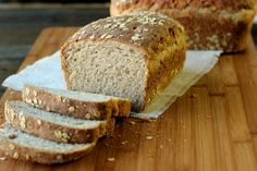 Multigrain Bread. Delicious! Very lightly sweet.   Used only 2 cups of all purpose flour and made up the difference with whole wheat. Texture was still great although the bread didn't rise to the height of the pan like it should have.