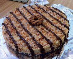 Samoa cheesecake...shut the front door!.