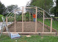Garden Construction Project: Building a Hoop House PART 1