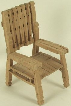Clothespin chair. My neighbor made me one and I used it for my Barbies.