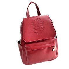 New Fashion Student Backpack Crown Printed PU Leather Women Travel Bag LXX9