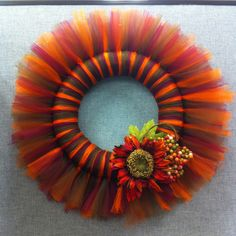 Harvest DIY Tulle Wreath