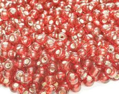 Check out 10/0 Seed Bead Red | Seed Bead Jewelry | Bead Weaving | Size 10 Glass Seed Bead | Embroidery Work | Transparent Silver Lined Seed Beads, S73 on vickysjewelrysupply