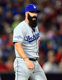 CrowdCam Hot Shot: Los Angeles Dodgers relief pitcher Brian Wilson during the eighth inning of game one of the National League divisional series playoff baseball game against the Atlanta Braves at Turner Field. Photo by Daniel Shirey