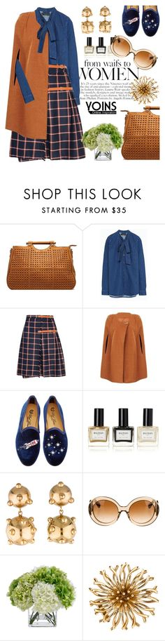 """""""Barnyard chic with yoins"""" by pensivepeacock ❤ liked on Polyvore featuring Del Toro, Balmain, DANNIJO, Prada and Diane James"""