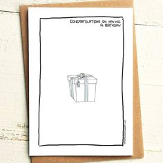 Congratulations on having a birthday, have a present, twat - Brutally Honest Cards | Everyone has one | Passive aggressive birthday card by iamstevestewart on Etsy