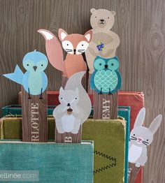 Printable Animal Bookmarks from Ellinee, featured @printabledecor1 @Johnnie (Saved By Love Creations) Lanier