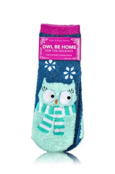 Owl Be Home for the Holidays Shea-Infused Lounge Socks - Bath & Body Works   - Bath & Body Works