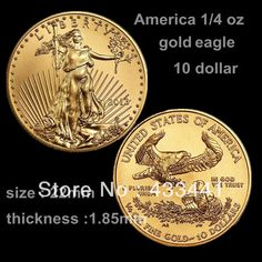 2013 America 1/4 OZ gold plated coin