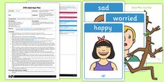 Sticks Have Feelings Too Circle Time Activity EYFS Adult Input Plan and Resource Pack - stick man, feelings